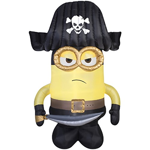 Carl Costumes Up Halloween (HALLOWEEN INFLATABLE 9 MINION PIRATE GEMMY OUTDOOR YARD PROP)