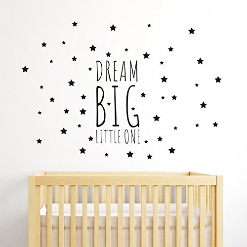 Dream Big Little One Night Sleep Wall Decal Vinyl Sticker St