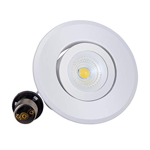 - JJC Recessed Lighting 4 Inch LED COB Dimmable Gimbal Downlight Ceiling Lights 10W(75W Equiv.)700LM 5000K Daylight Energy Star Certified&ETL-Listed