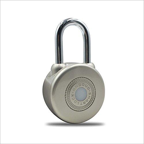 Anboud Keyless Smart Padlock Wireless Bluetooth Lock for Door/Bike/Motorbike (Silver) by Anboud