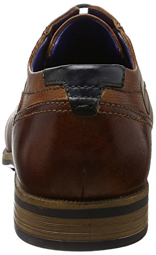 Bugatti Herren 311189022100 Derby Braun (cognac 6300)