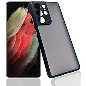 mobbysol® Back Cover for Samsung Galaxy S21 Ultra 5G Matte Frosted Smoke Back case with Full Camera Protection | Sleek…