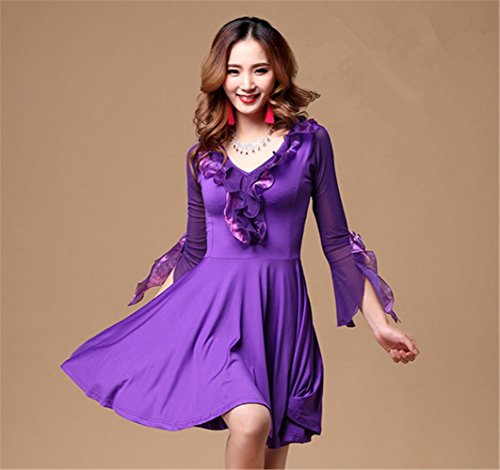robe salon de formation modernes de danse de danse de robe violet vêtements UvqtwU