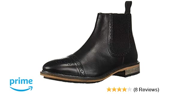 Amazon.com | Steve Madden Mens DEADBOLT Chelsea Boot, Black Leather, 7 M US | Shoes