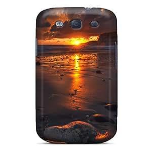 Excellent Design Sunset Flames Phone Case For Galaxy S3 Premium Tpu Case