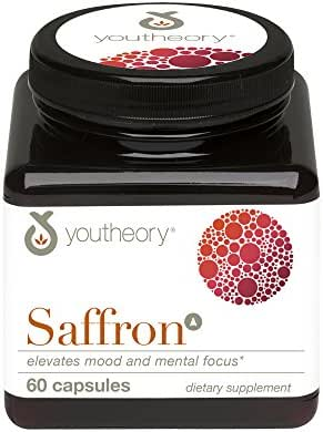 Youtheory Saffron Advanced with Rhodiola, 60Count (1 Bottle)