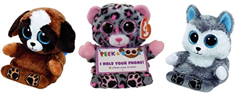Ty Peek A Boo Phone Holder Screen Cleaner (3) Scout Pups Scout (Sexy Cookie Girl Adult Scout Costumes)