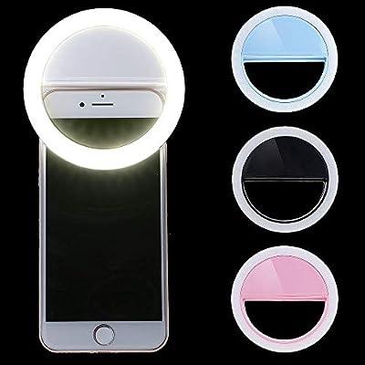 FidgetFidget Clip-on Brightness Selfie LED Ring Fill Light 3 Levels