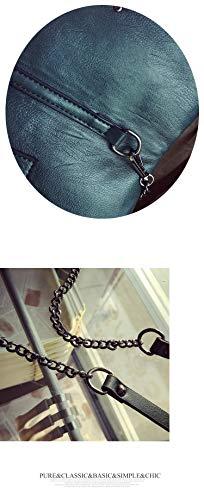 della Nero di sacchetto Rosso sacchetto frizione nappa metallo del borsa tracolla del della elaborazione crossbody messaggero del di dell'unità donne modo pieghevole borsa Punk Pnizun busta cuoio della pwxFITq0p