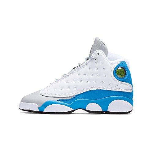 NIKE Air Jordan 13 XIII Retro White Italy Blue GS BG Youth Kids Boys 439358-107 US Size 8Y by NIKE