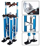 24'' to 40''Adjustable Painting Drywall Stilts Aluminum Blue with Minor Assembly