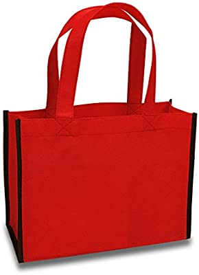 Amazon.com: Nonwoven biodegradables bolsas de color rojo ...