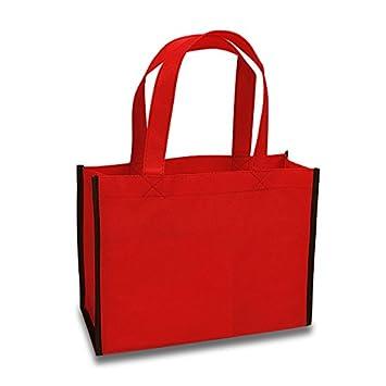 Amazon.com: Nonwoven biodegradables de color rojo bolsas de ...