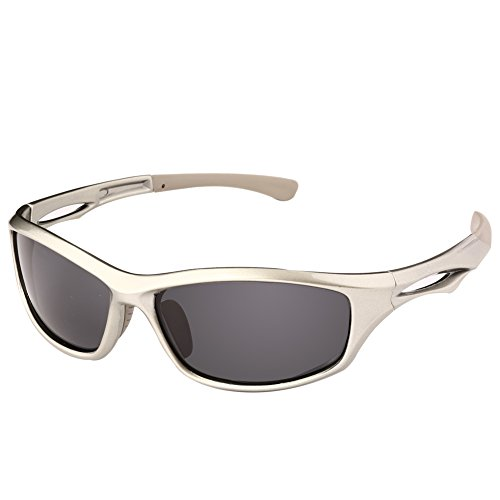 DUCO Polarized Sports Sunglasses for Running Cycling Fishing Golf TR90 Unbreakable Frame 6199 Gunmetal Frame Gray - Sunglasses Rey Ban