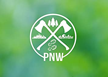 Chase Grace Studio Pacific Northwest PNW Hiking Vinyl Decal Sticker|White|Cars X