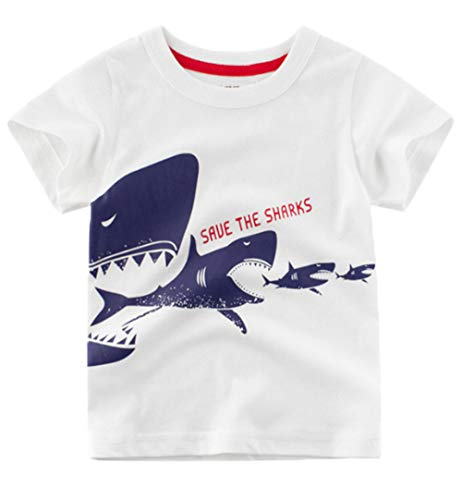 Tee Toddler Infant - Little Boys T-Shirts Short Sleeve Shark Clothes Summer Toddler/Infant Kids Casual Tee 3t(100)