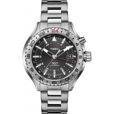 Timex-Intelligent-Quartz-T2P424-Mens-Intelligent-Quartz-3GMT-Silver-Steel-Bracelet-Watch
