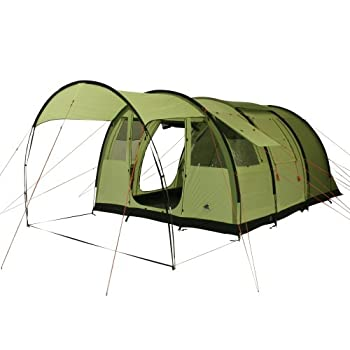 Image of 10T Leighton 4 - Spacious 4-Person Tunnel Tent with Large Canopy and Ground Sheet, 2m Standing Height, WS=5000 mm Tents