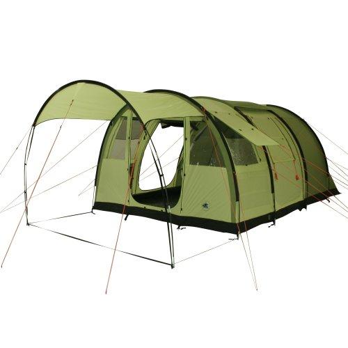 10T Leighton 4 - Geräumiges 4-Personen Tunnel-Zelt mit großem Vordach und Bodenplane 2m Stehhöhe WS=5000mm