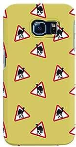 Stylizedd Samsung Galaxy S6 Edge Premium Slim Snap case cover Matte Finish - Camel Signs
