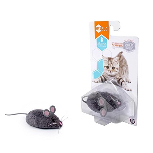 UPC 713179802091, HEXBUG Robotic Bug Cat Kitten Motorized Toy Mouse Gray with Extra Battery