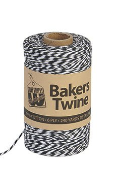 STORE001 1pc, Black & White Bakers Twine