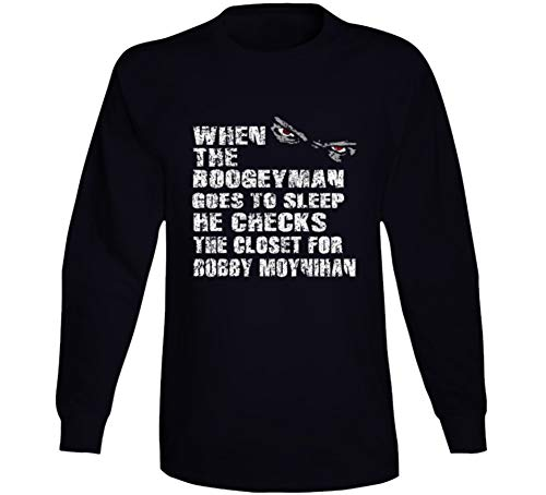Bobby Moynihan Boogeyman Hilarious Comedian Comedy Worn Look Cool Fan Long Sleeve T Shirt XL Black