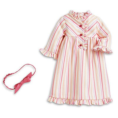 Amazon.com: American Girl Kits Striped Nightie for Dolls Pajamas Pjs: Toys & Games