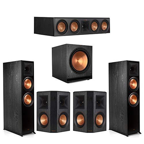 Klipsch5.1.2 Ebony Home Theater System – 2 RP-8060FA, 1 RP-504C, 2 RP-502S, 1 SPL-150 Subwoofer