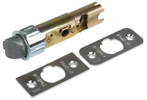 Kwikset 19841-26 6-Way Adjustable Replacement Dead Latch - Satin Chrome