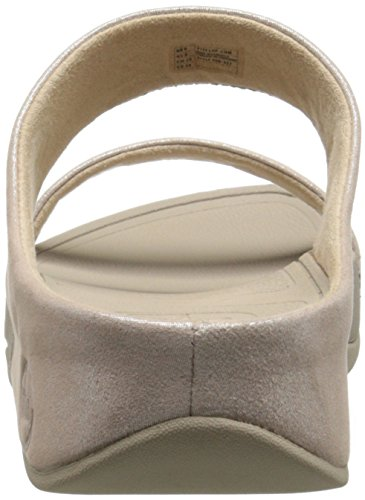 Fitflop Mujer Beige Slide Lulu Shimmersuede nude Sandalias a4q8Aa