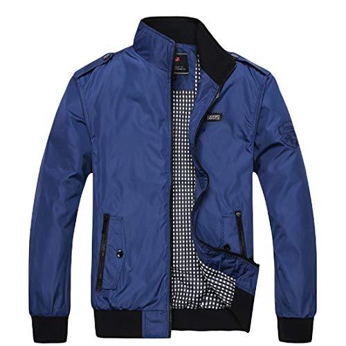 Svago Dimensioni Beeatree Zaffiro Mens Di Esterno Di Casuale Blu Giacca Autunno Grandi Outwear wUIB0U
