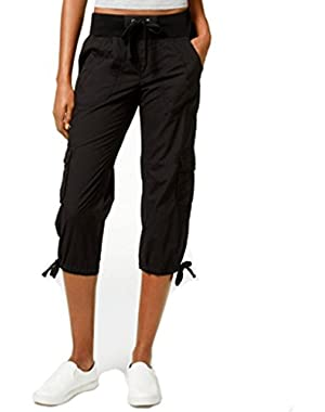 Calvin Klein Performance Cargo Cropped Pants Black X-Small