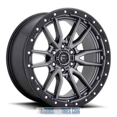- Fuel D680 Rebel 17x9 6x135-12mm Gunmetal/Black Wheel Rim 17