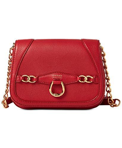 Lauren Ralph Lauren Stonegate Leather Crossbody (Red) (Lauren Ralph Lauren Tate Patent Leather Crossbody)