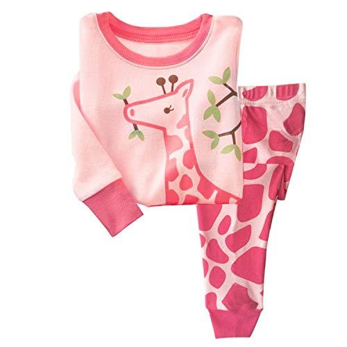 (AmberEft 2T Girls Pajamas Kid Clothes Toddler Deer PJs Sets Long Sleeve Sleepwear)