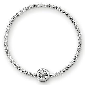 Thomas Sabo Damen Herren-Armband Karma Beads 925 Sterling Silber   KA0001-001-12- , Länge -18 - Silber 4