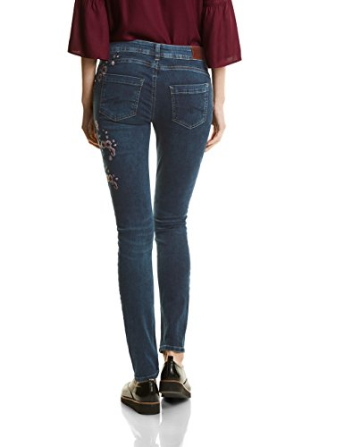 slimfit Denim Blue Wash emb One Street Blau Indigo 11114 natural Coupe Mw Femme Ajustée york Jean IU1wwFT