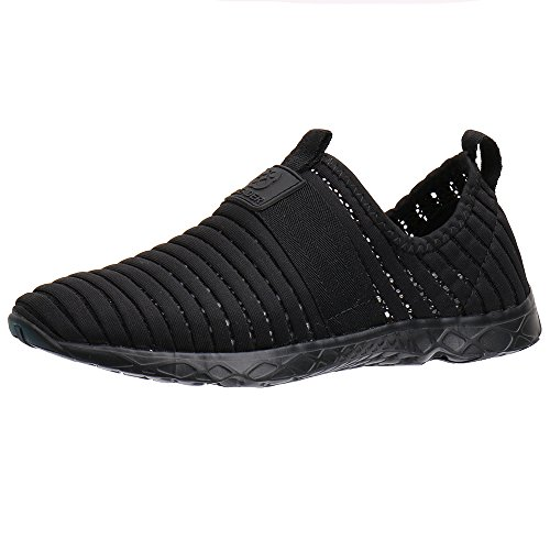 ALEADER Water Sport Shoes Men's Comfortable Tennis Walking Shoes Black 10 D(M) US