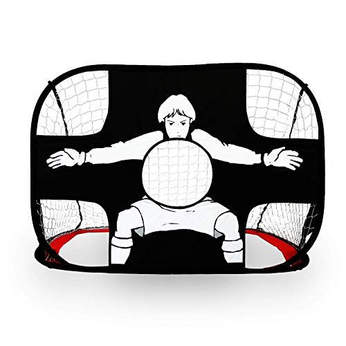 ALPIKA 2-in-1 Kids Soccer Goal Indoor Outdoor Soccer Training Net with Carrying Case -