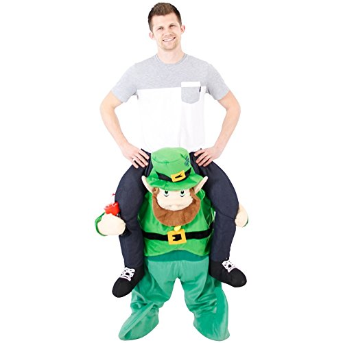 Costume Agent Men's Ride On Leprechaun Costume, Green, Standard -