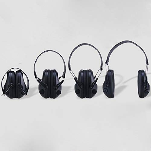 Noise Cancelling Earphones, Head-Mounted Adult Sponge Noise-reducing Earmuffs Portable Ear Protectors (Color : Black) by Noise canceling headphones (Image #2)