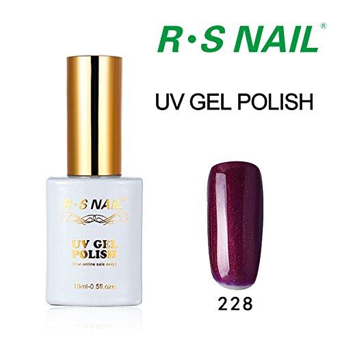 P228 Spring (Gel Nail Polish,RS NAIL UV LED Art Manicure Varnish Nail Salon Summer Collections Lacquer Nail Art Manicure 15ML 60 Colors 181-240)