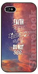 For Samsung Galaxy S5 Mini Case Cover Bible Verse - Faith is being certain of what we do not see. Sky - black plastic case / Verses, Inspirational and Motivational