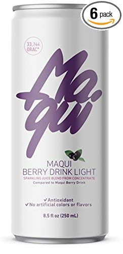 Maqui Berry Drink | Most powerful Antioxidant superfruit in the world | High vitamin C content | Without artificial colors or flavors | 250 ml can (6 pack) | Non GMO | Light Version