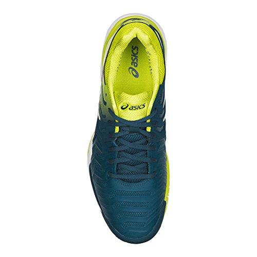 Asics Heren Gel-resolutie 7 Tennisschoen Inkt Blauw / Zwavel Veer / Wit