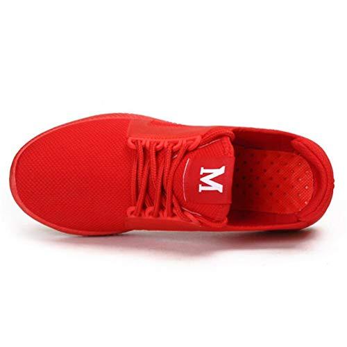 Las de Zapatillas Mujeres de Deporte Deporte del Deporte Aire Zapatillas la Zapatillas de de de Malla Malla Transpirables de la Rojo gwYxqxt