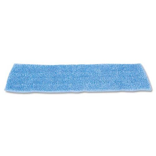 Rubbermaid Commercial HYGEN Economy Wet Mopping Pad, Microfiber, 18'', Blue - 12 mop heads.