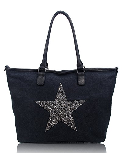 50x33x16cm STAR LARGE CANVAS Vintage Size HANDBAG Bag BIG SPARK Tote Multifunctional Travel Shoulder 4TwSx67Oq5