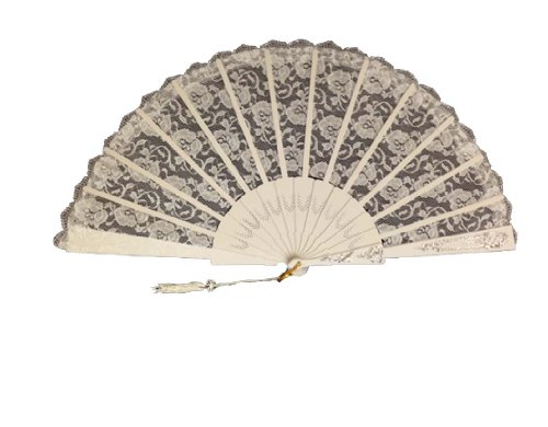 Shear Large Lace Folding Hand Fan 12 -